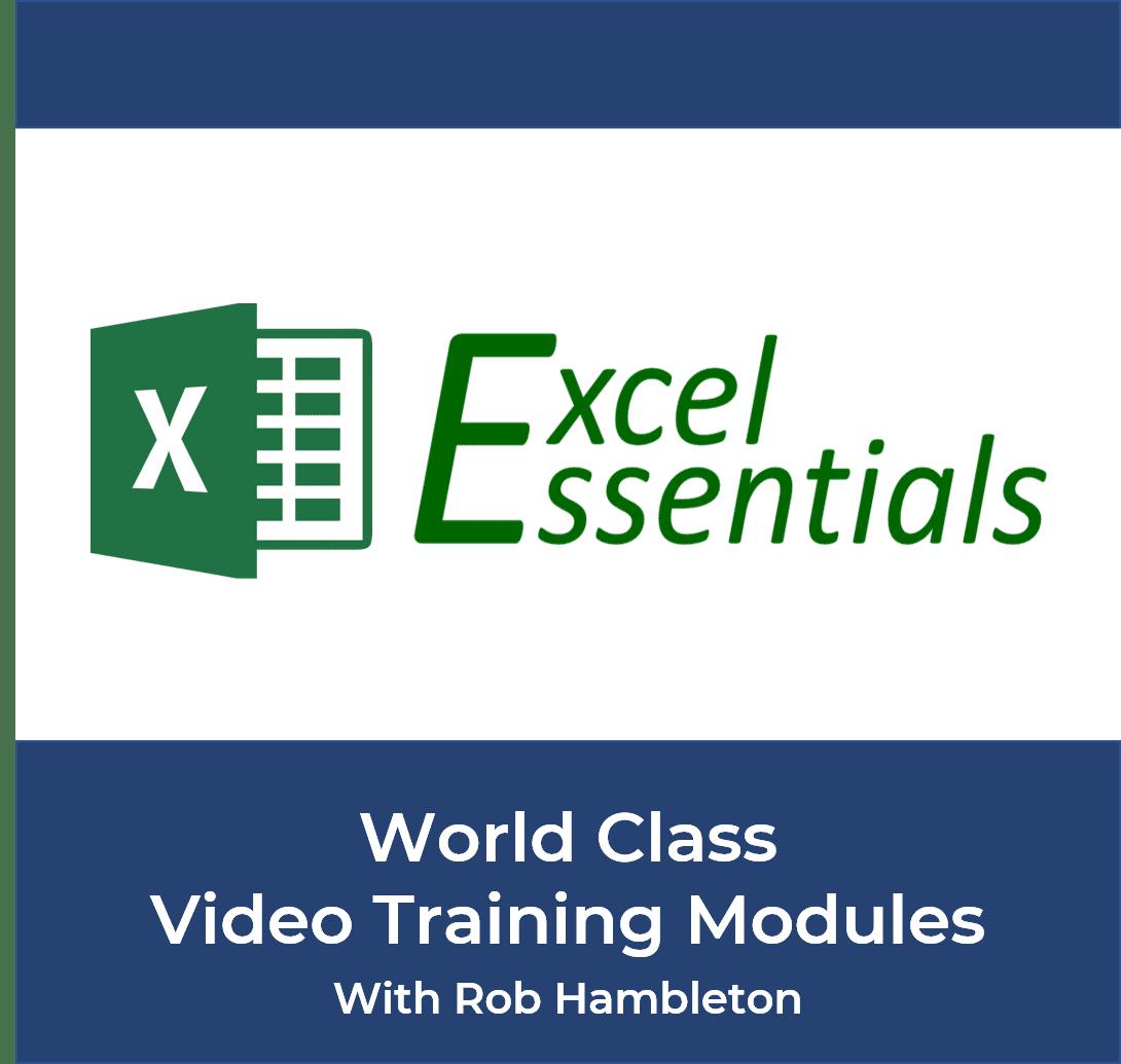 Excel Essentials Training Modules with Rob Hambleton