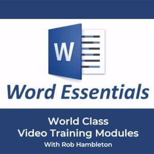 Word Essentials Training Module with Rob Hambleton