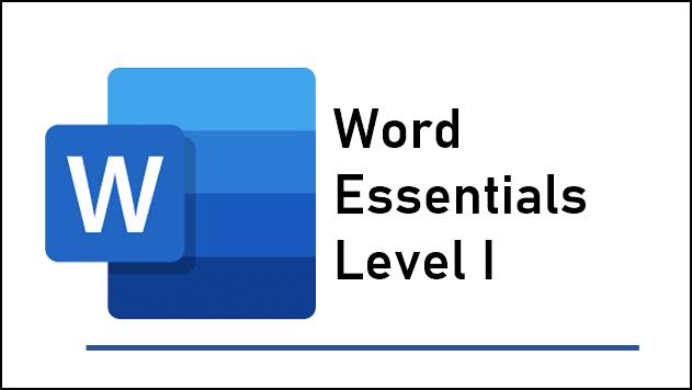 Word Essentials Level 1 training